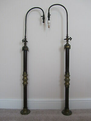 Very Old Church Alter Gas Lights - Pair