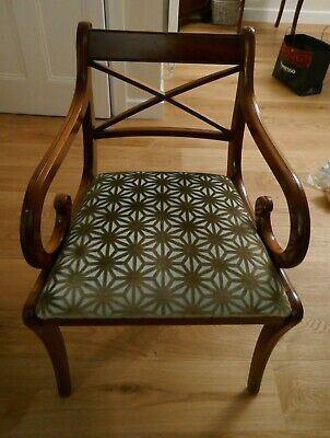 Six Regency Style Reproduction Dining Room Chairs