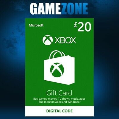 Microsoft Xbox Live £20 GBP UK Gift Card Points Pounds For Xbox 360 / Xbox One
