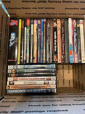 "LOT OF 29 DVD MOVIES, PREOWNED Includes Three ""Bourne"" Johnny Cash Mel Brooks"