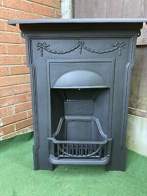 Victorian/Edwardian Cast Iron Bedroom Fireplace (Free Delivery)