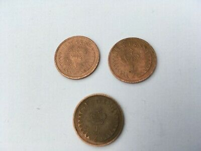 2x 1973 + 1x 1971 UK 1/2p coins - Half Penny – Circulated