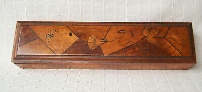 Antique Japanese inlaid marquetry box