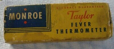 Vintage Taylor Instrument Company Monroe Oral Fever Thermometer