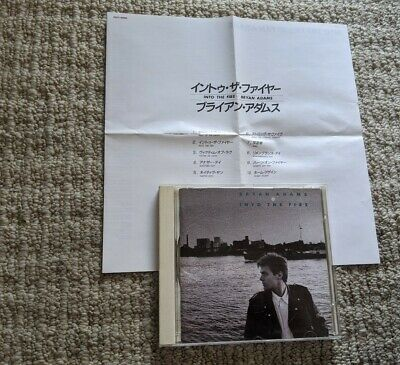 Bryan Adams Into The Fire Early Japan Pressing Cd Pccy-10082 Free Shipping