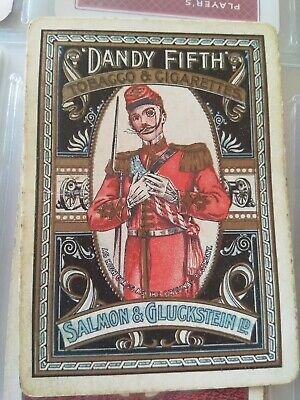 Vintage Collectable Playing Card Dandy Fifth Tobacco & Cigarettes Salmon & Gluck