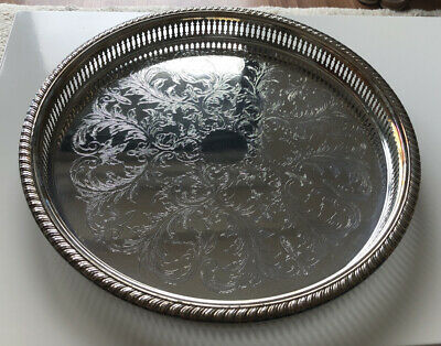 CAVALIER - SILVER PLATED  Drinks Serving Tray 14.5""