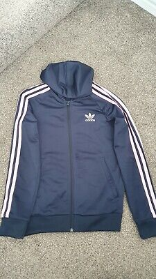 Girls Adidas Tracksuit Top With Hood