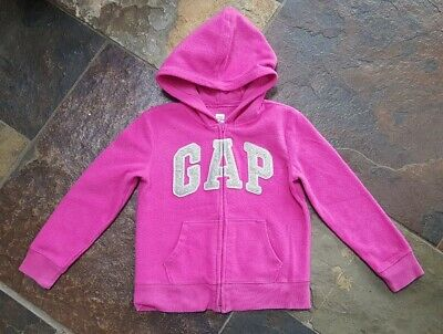 Gap Pink Hoodie with Sparkly Logo Age 8 Yrs