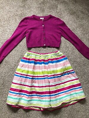 Girls Outfit Gap Next Age 9 Size M Cardigan And Skirt