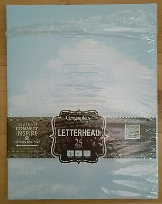 Geographics Letterhead Paper  Clouds Item 48976