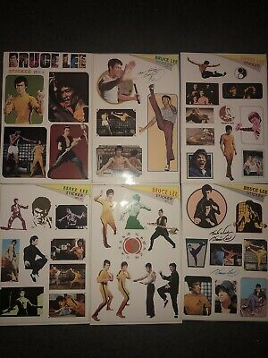 Bruce Lee Stickers 1-6