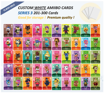 Series 3 Custom White Animal Crossing Amiibo Cards - 201 - 300