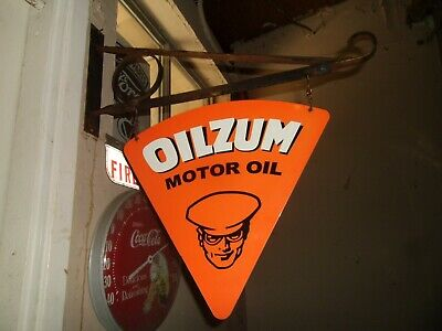 Oilzum Motor oil Double sided Porcelain sign