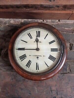 Antique W&H Station/School Timepiece For Restoration