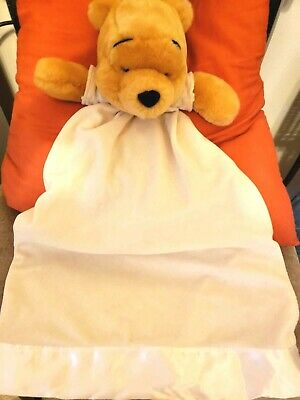 Baby Disney Winnie the Pooh Soft Plush Lovey Security Blanket Blankie Red Yellow