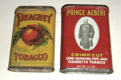 Vintage Peachey Double Cut Tobacco Tin Lithographed Pocket Tin, Prince Albert