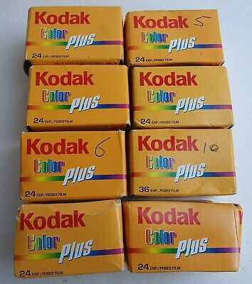 8x Expired KODAK COLOR PLUS 35mm Camera Film 24/36 Exposure Lomography Lomo 2009