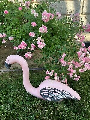 Vintage SHABBY Faded Pink Flamingo Yard Garden Art No Stands