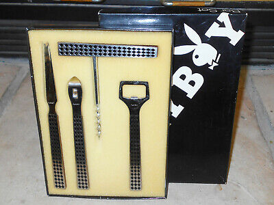 Playboy Four Piece Stainless Steel Bar Set In Original Box  --  Aaa+++