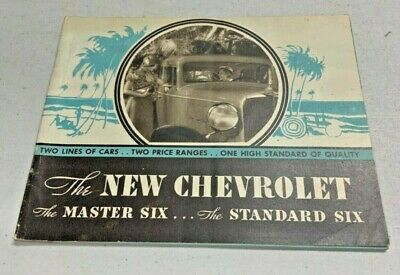 Chevrolet Master Six and Standard Six Sales Brochure 1930's