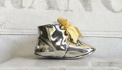 Beautiful Old Gorham Company Silverplate Baby Shoe