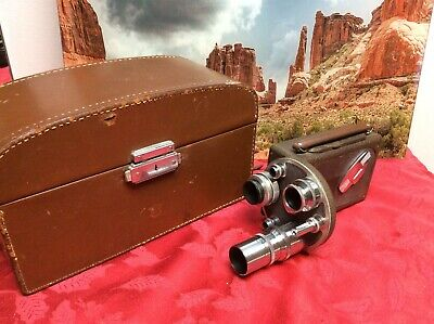 Vintage Bell and Howell Filmo Auto Master 16mm Movie Camera with Case & Lenses
