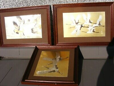 Japanese Chokin Art Pictures  Group Signed
