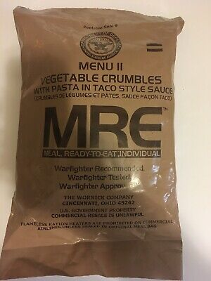 MILITARY MRE NEW INDIVUAL MRE MEALS READY TO EAT long term food storage prepping