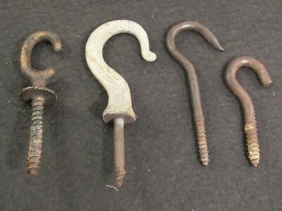 Set of 4 Antique Hooks for Light Fixture Chandelier Oil Lamp etc.