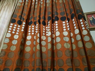 Pair Vintage Pinch Pleated Drapes Curtains Lawerence Peabody Mid Century Kinship