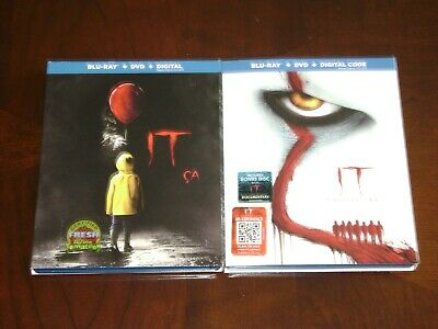 IT CHAPTER ONE AND TWO Blu-Ray DVD Digital MINT! Stephen King Pennywise