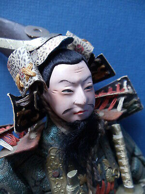 "Antique Vintage JAPANESE SAMURAI WARRIOR 10"" DOLL All Original MINT ~  JAPAN"