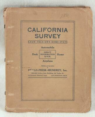 "California Survey ""Know Your Own Home State"" Map Book c.1940 Large Map in Pages"