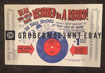 Rare Vintage The Three Stooges Store Display For Birthday Records
