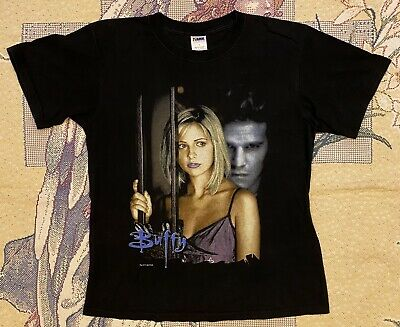 Vintage 1998 Buffy The Vampire Slayer T Shirt 90s TV Show Movie Tee Promo M