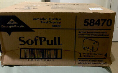 """SofPull 9"""" Automated Touchless Paper Towel Dispenser by GP PRO, Black, 58470"""