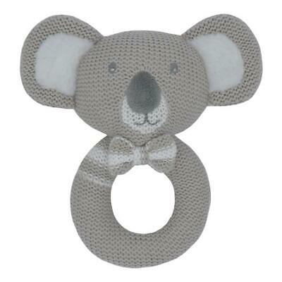 Kevin the Koala Knitted Baby Ring Rattle | Living Textiles