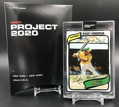 2020 Topps PROJECT 2020 Card #14 1980 Rickey Henderson by Joshua Vides PR /1,221