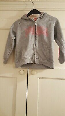 Girls lonsdale grey jacket age 5-6