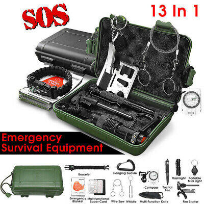SOS Emergency Camping Survival Equipment Case Outdoor Tactical Hiking Gear ↙