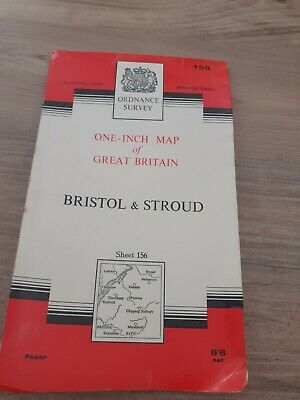 Vintage Map of Bristol & Stroud 1960s?