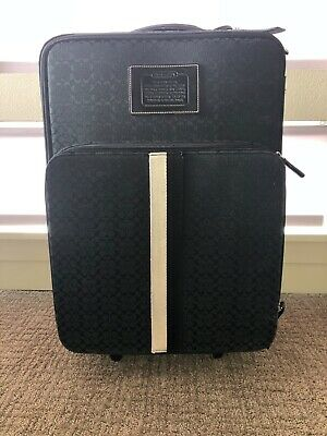 Authentic Coach Carry-On Luggage Wheeled Black Rolling Suitcase