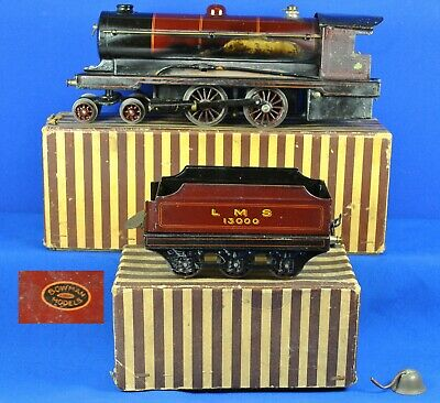 Bowman 234 LMS live steam Locomotive & Tender with striped boxes  c1925