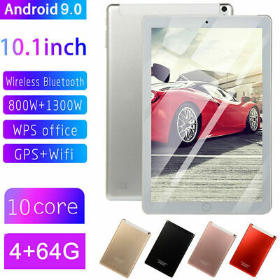 10.1 Inch Tablet HD PC WIFI GPS Android 9.0 4+64G Dual SIM Camera Wireless UK