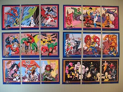 1993 Skybox DC Cosmic Teams base set missing only #100, complete Holograms+
