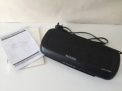 PRO ACTION A4 Hot/Cold Laminator & Various Laminating Pouches. Tested, Working.