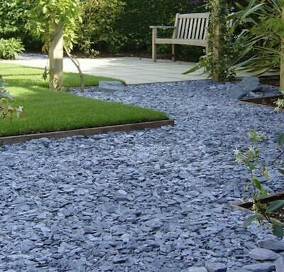 20mm Blue Slate Decorative Chippings Driveways Landscaping Aggregate Fast 20kg
