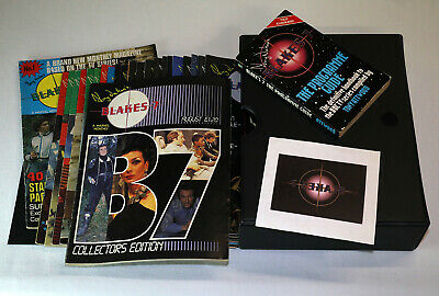 Blake's7 magazines, COMPLETE SET, incl Special. Boxed w Programme Guide.