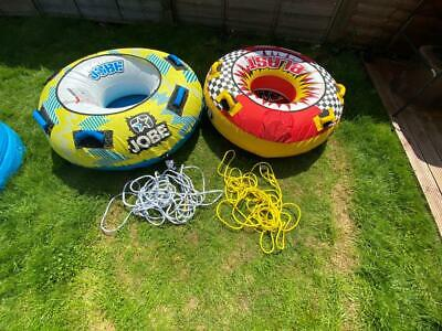 Pair of Jobe Towable Inflatable Donuts incl ropes (Tube wars)